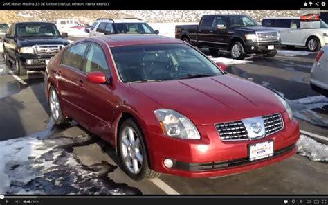 2006 Nissan Maxima Se by 2006 Nissan Maxima 3 5 Se Tour Start Up Exhaust