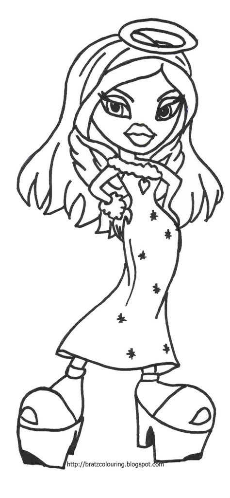 bratz coloring pages bratz doll color in page angel