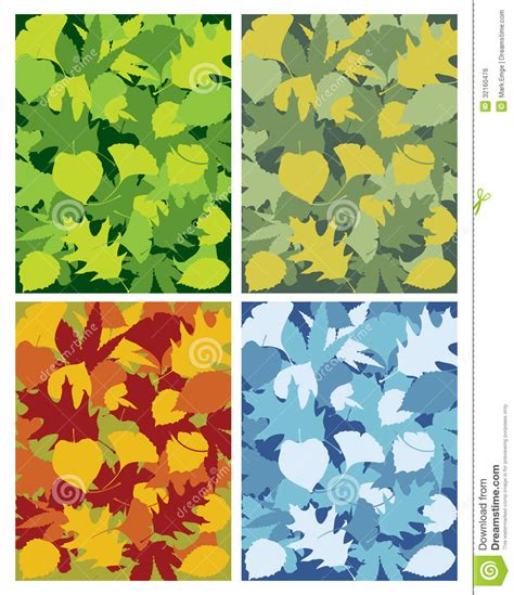 leaf pattern illustrator leaves seasons stock illustration image of overlap tree