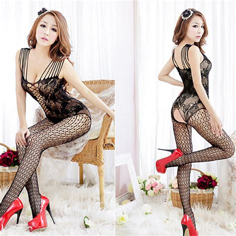 New Bodystocking Bsolg75 Open Crotch new fishnet bodystocking crotchless open crotch nightwear ebay