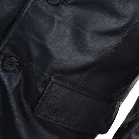 Button Leather by Mens Three Button Leather Blazer Malone Mens Leather