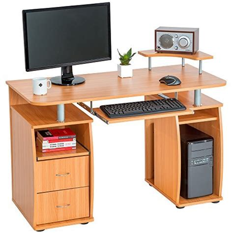 tectake computer desk table office workstation with