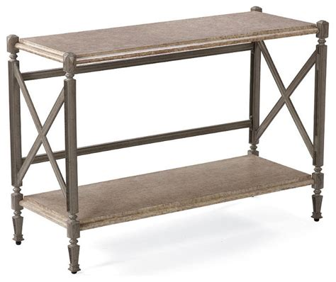 Outdoor Console Table Carlisle Outdoor Console Table In Gray Finish Patio Furniture Traditional Coffee Tables