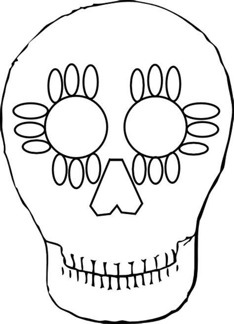 Dead Outline Png by Totetude Day Dead Outline Skull Clip At Clker Vector Clip Royalty Free