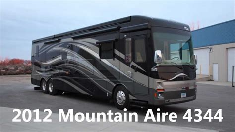 Used 2012 Newmar Mountain Aire 4344 All Electric Luxury Diesel Pusher Motorhome for Sale   YouTube