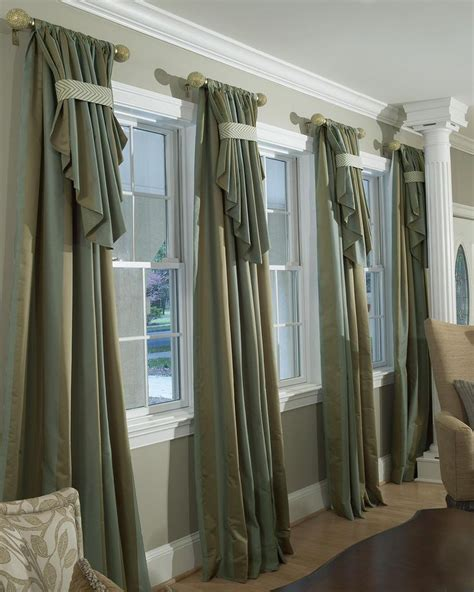 Large Window Curtains Custom Drapery Parda Pinterest Curtain Rods Large Window Treatments And Large Windows