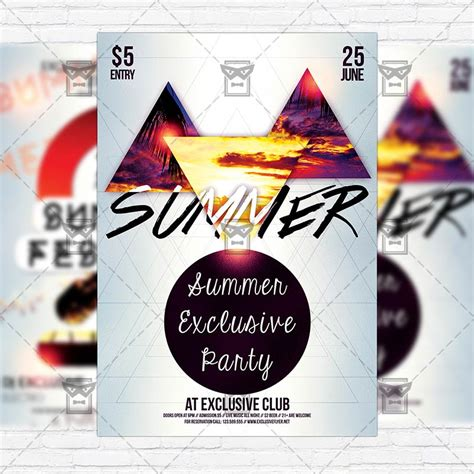 Summer Premium Flyer Template Instagram Size Flyer Exclsiveflyer Free And Premium Psd Instagram Ad Template Psd
