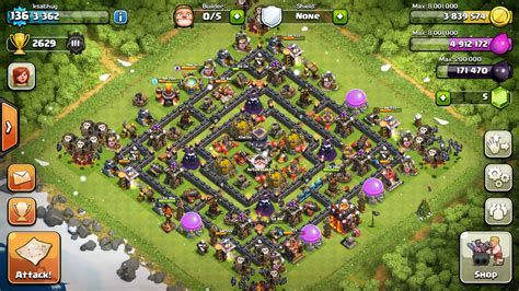 clash of clans th10 hybrid layout th10 clash of clans goonsquadelite
