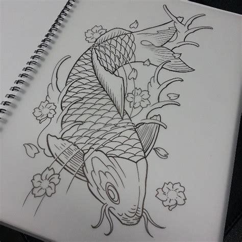 tattoo koi sketch line drawing of koi tattoo ink sketch art drawing li