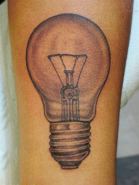 lightbulb tattoo bulb tattoos and designs page 37