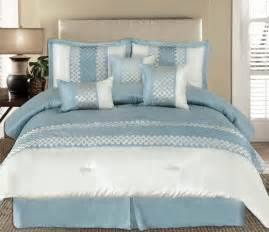Pale Blue Bedding Sets King 7pc Andrea Light Blue Luxury Bedding Set Jpg