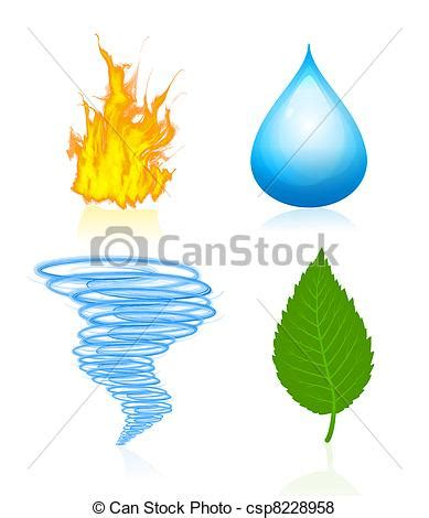 Illustration De Quatre 233 L 233 Ments Nature Quatre Vecteur