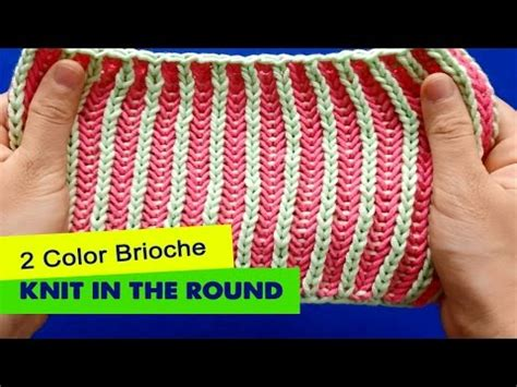 two color knitting in the 2 color brioche knitting in the