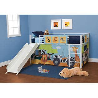 Essential Home Slumber N Slide Loft Bed Make Bedtime Fun Slumber N Slide Loft Bed Curtain Set