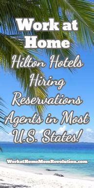 hiring work at home reservations agents in u s