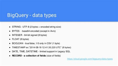 format date bigquery almost serverless analytics system with bigquery appengine