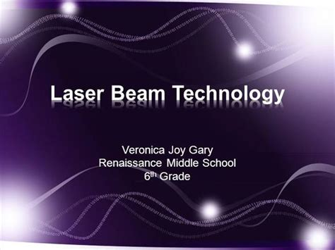 Laser Beam Technology Authorstream Laser Ppt Templates Free