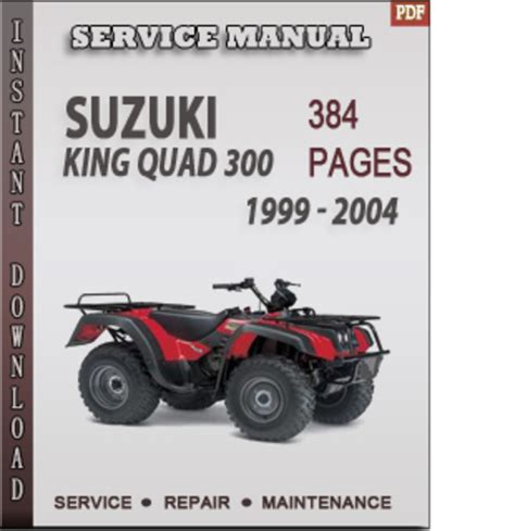 Suzuki Manual Suzuki King 300 1999 2004 Factory Service Repair