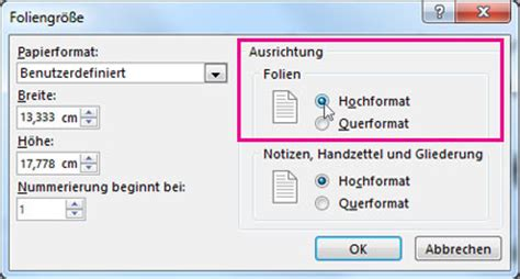 powerpoint layout nachträglich ändern 196 ndern der seitenausrichtung ihrer powerpoint pr 228 sentation