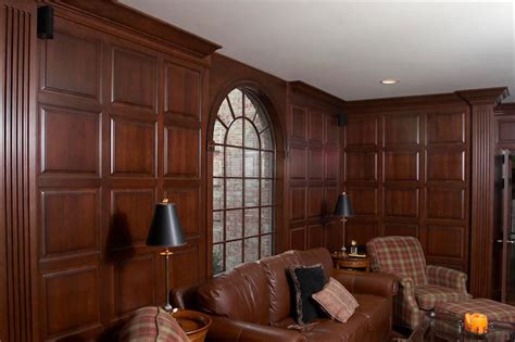 Cherry Wainscoting Custom Library And Home Office In Cherry In Clarksville