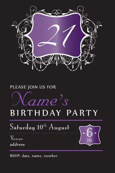 21th birthday invitations evening chic birthday