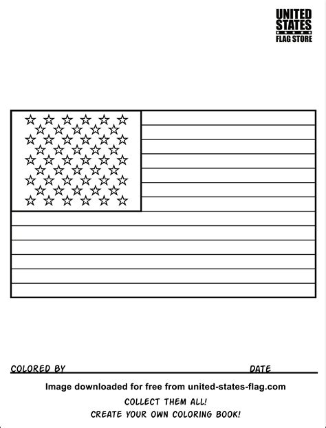 small american flag coloring page best photos of small american flag template printable