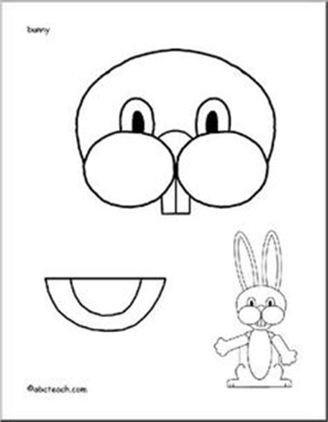 easter bunny paper bag puppet template easter on easter bunny bunnies and easter eggs