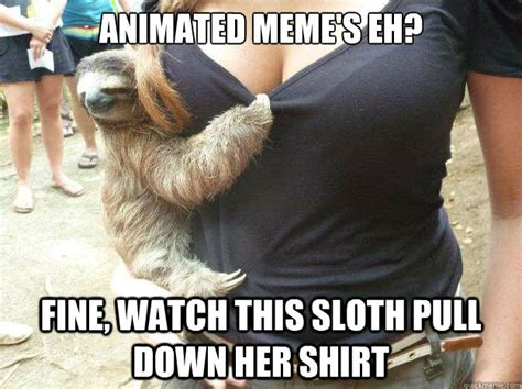 Sloth Meme Shirt - animated meme s eh fine watch this sloth pull down her