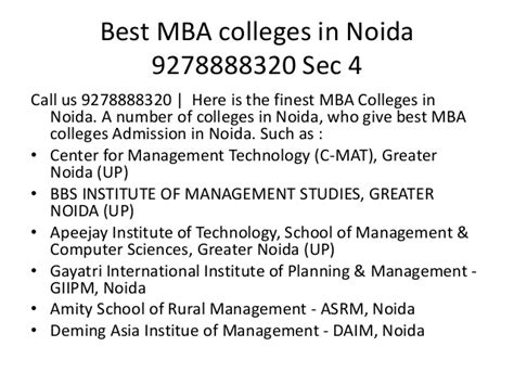 Best Mba Colleges In Us by Best Mba Colleges In Noida 9278888320 Sec 4