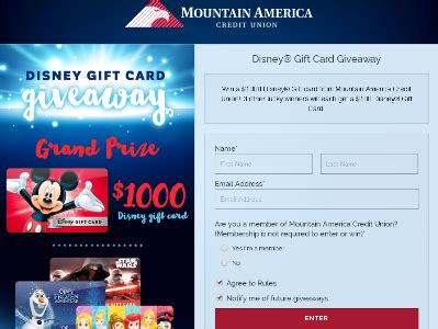 Activate Disney Gift Card - mountain america disney gift card giveaway win 1000 disney gift card