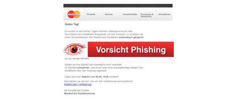 kreditkarte at phishing vorsicht vor phsihing mail im namen mastercard