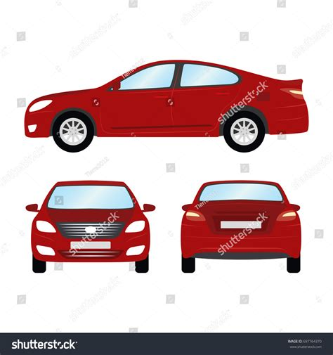 car vector template on white background stock vector