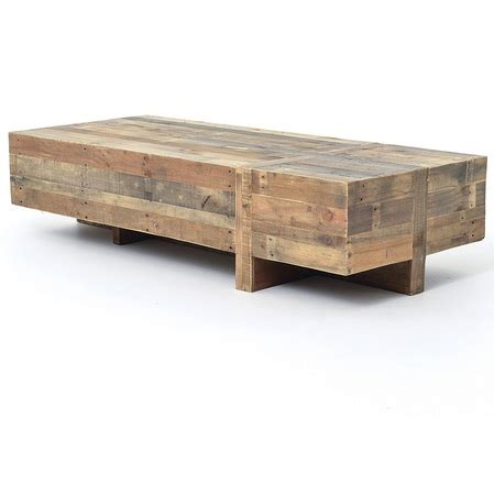 Wood Rustic Coffee Table Angora Reclaimed Wood Block Rustic Coffee Table 68 Quot Zin Home