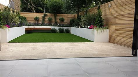 Travertine Paving Patio Render Block Raised Beds Hardwood Designers Patio