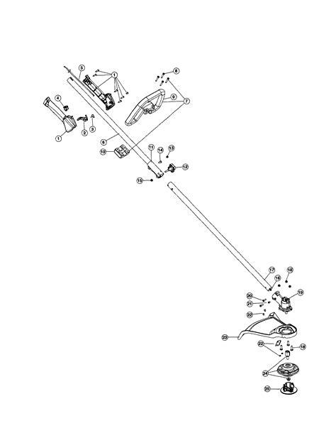 craftsman 32cc wacker parts diagram drive shaft shield handle diagram parts list for model