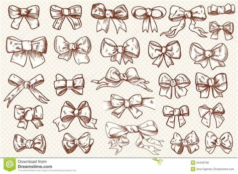 ribbon bow set stock vector image 54446758