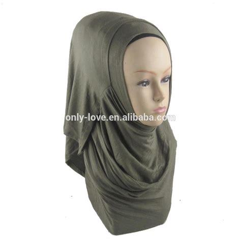 Instant Najwa Jersey Mix Chiffon loop plain cotton jersey instant muslim scarf