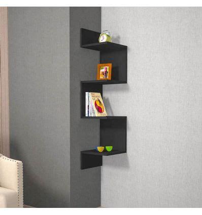 mensola angolare mensola angolare da parete in melaminico nero