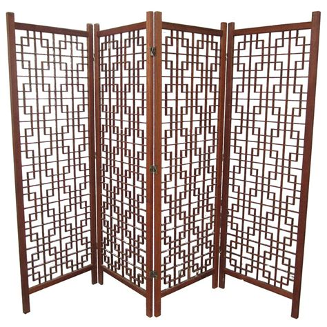 screen dividers for rooms vintage teak room divider screen at 1stdibs