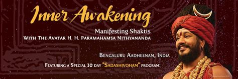 Events Awake The Inner Rebel by Inner Awakening At Bengaluru Aadheenam Nithyananda