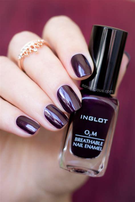 Inglot Halal O2m 609 By marsala inglot o2m breathable nail review