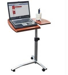 Mobile Laptop Desk Stand Angle Height Adjustable Portable Rolling Mobile Laptop Desk Cart Table Stand Ebay