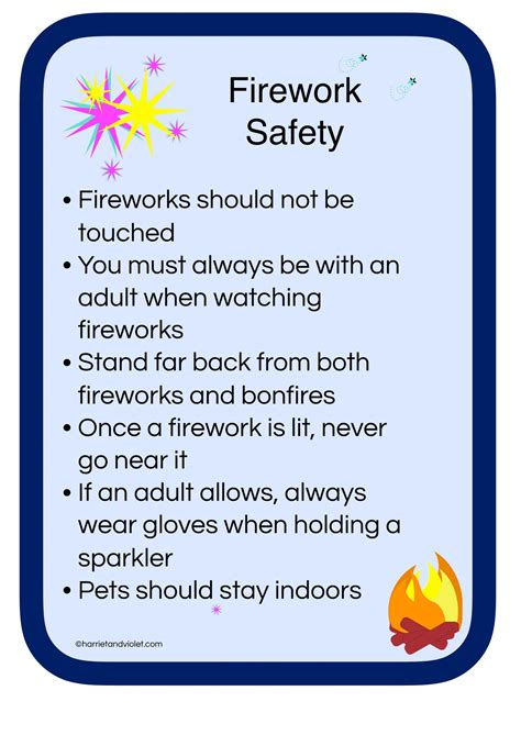 Firework Safety Posters Template firework safety poster free teaching resources harriet