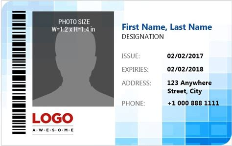 id card template free word ms word photo id badge sle template word excel