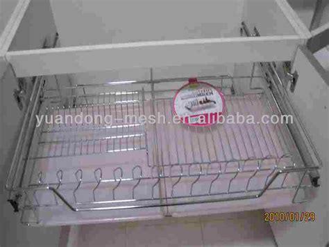 stainless steel kitchen cabinet drawer wire mesh basket
