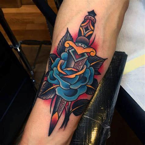 tattoo girl faze 70 traditional dagger tattoo designs for men sharp ink ideas