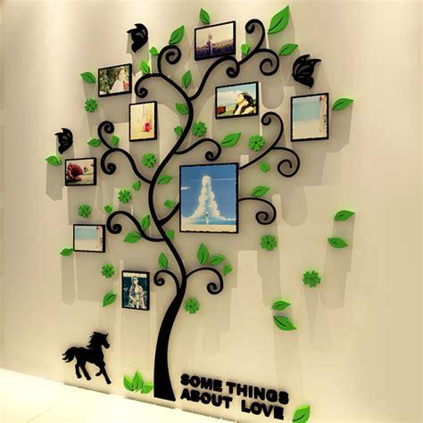 Wall Stiker Pohon Bingkai Photo 3 Dimensi 2 3d acrylic family tree wall stickers with photo frame