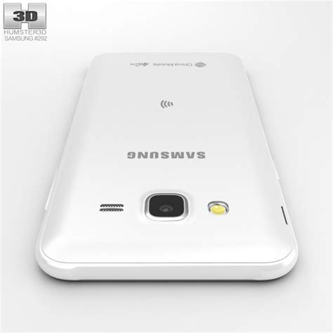 Samsung J5 White samsung galaxy j5 white 3d model humster3d