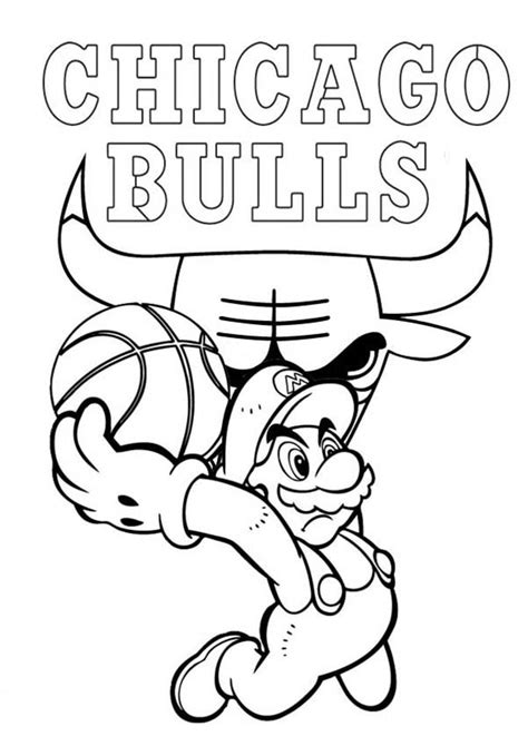 nba bulls coloring pages chicago bulls coloring pages coloring home