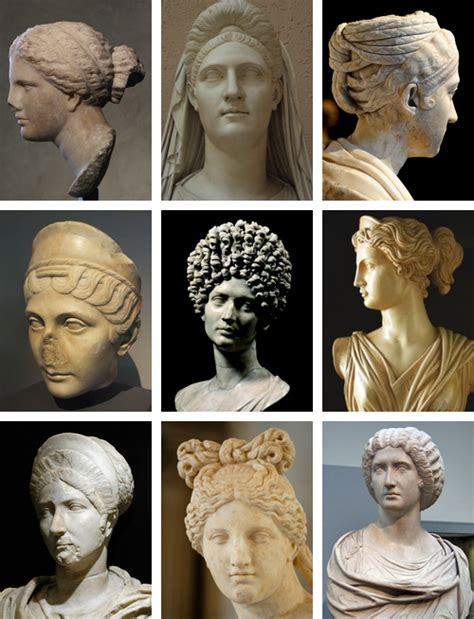 the earliest ancient record of haircuts a few of the hairstyles roman women would wear sometimes